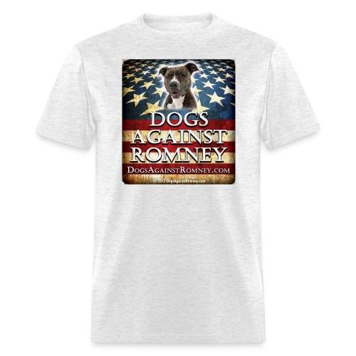 pitbulldogsagainstromneyflag - Men's T-Shirt