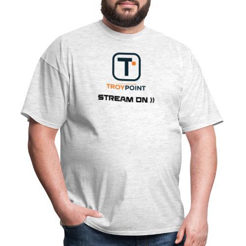 TROYPOINT Stream On Navy Logo - Men's T-Shirt