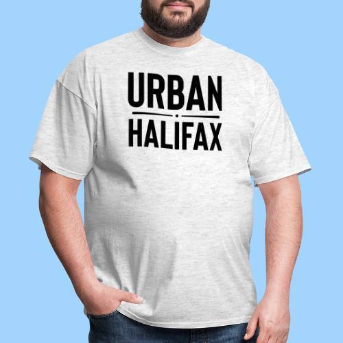 Urban Halifax logo (Black) - Men's T-Shirt