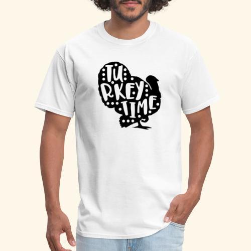 Turkey Time Thanksgiving Design - Men's T-Shirt