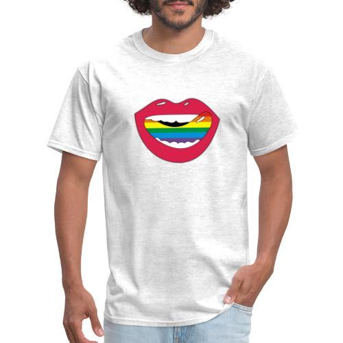 Mouthwatering shoutout Lickable Rainbow Collection - Men's T-Shirt
