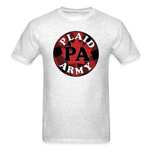 plaid army round - Men's T-Shirt