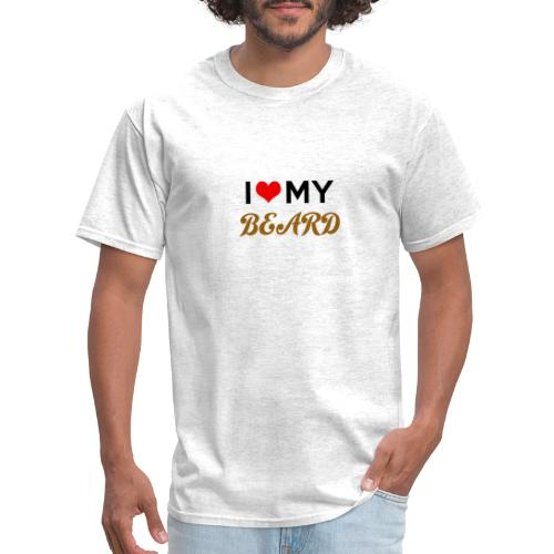 i heart my beard - Men's T-Shirt