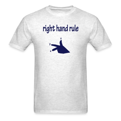right hand rule - Men's T-Shirt