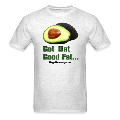 avocado1 blk - Men's T-Shirt