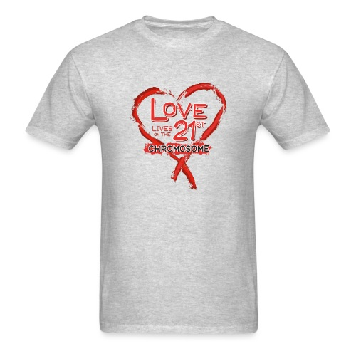 Down Syndrome Love (Red) - Men's T-Shirt