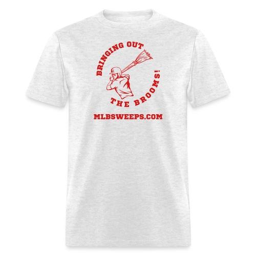 MLB Sweeps Logo and tagline with URL (Light) - Men's T-Shirt