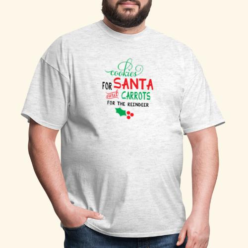 Cookies For Santa And Carrots For The Reindeer Des - Men's T-Shirt