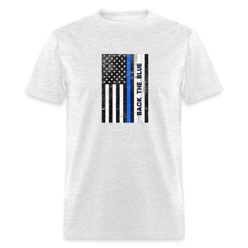 BACK THE Blue Police Officer USA - Men's T-Shirt