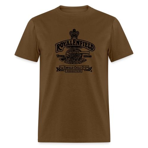 auto royal enfield emblem black 01 - Men's T-Shirt