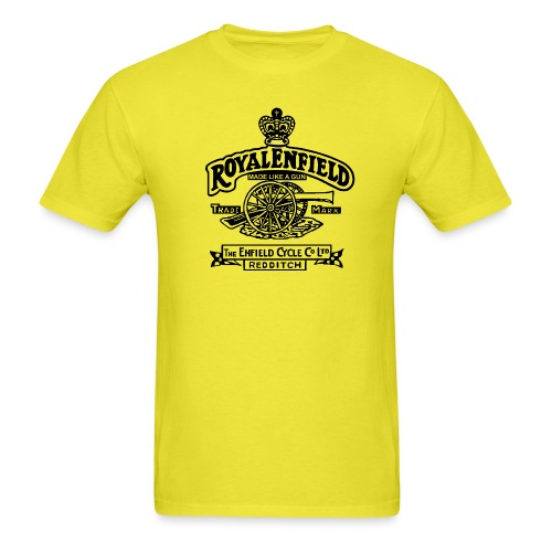 auto royal enfield emblem black 01 - Men's T-Shirt