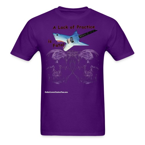 Practice by GuitarLoversCustomTees png - Men's T-Shirt