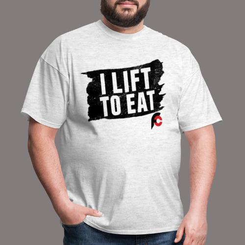 I Lift To Eat Red 3 - Men's T-Shirt
