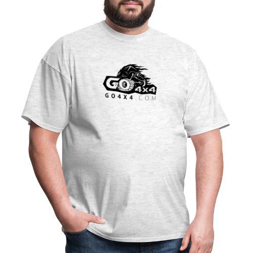 go bw white text black - Men's T-Shirt