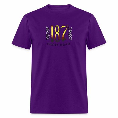 Coloured Trevor Loomes 187 Fight Gear Logo - Men's T-Shirt