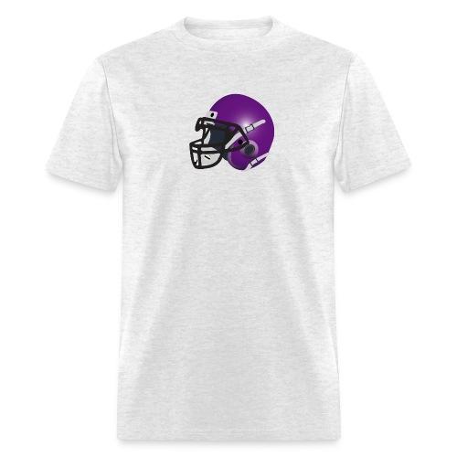 purple footbal lhelmet - Men's T-Shirt