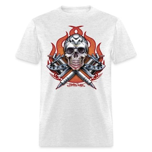 Skull Tattoo by RollinLow - Men's T-Shirt