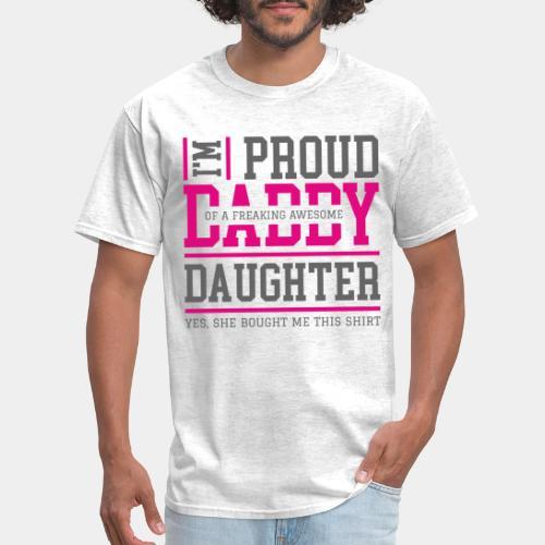 proud daddy daughter - Men's T-Shirt