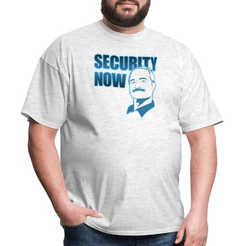 Security Now with Steve Gibson on white - Men's T-Shirt