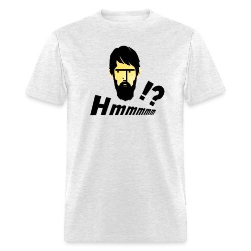 hmm!? emotion serious bearded face - Men's T-Shirt