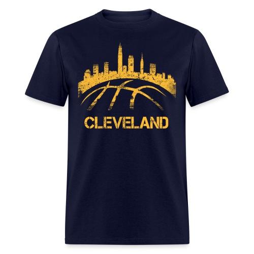 Cleveland Basketball Skyline - Men's T-Shirt