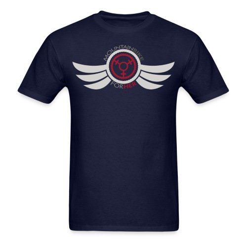 Wings Logo Words png - Men's T-Shirt