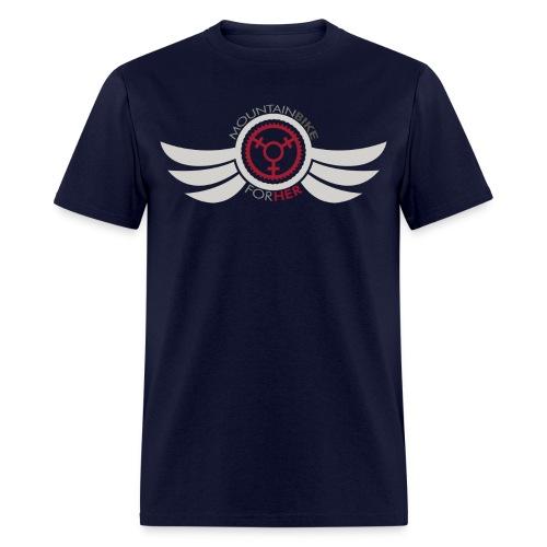 Wings Logo Words png - Men's T-Shirt
