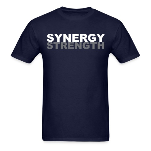 SYNERGY STRENGTH grey png - Men's T-Shirt