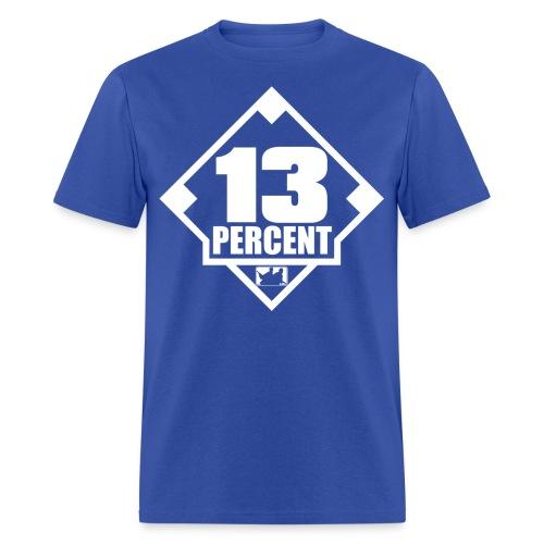 Thirteen Percent Logo - Men's T-Shirt