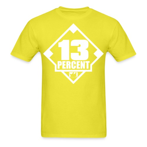 Thirteen Percent Logo - Men's T-Shirt