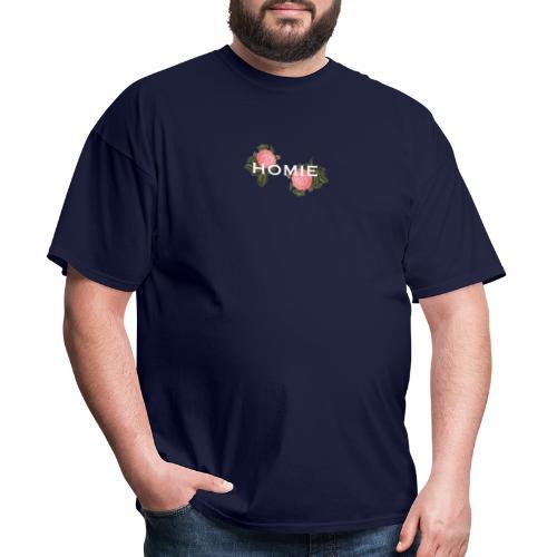 HOMIE WHT PNK ROSE - Men's T-Shirt