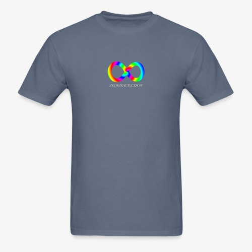 Neurodiversity with Rainbow swirl - Men's T-Shirt