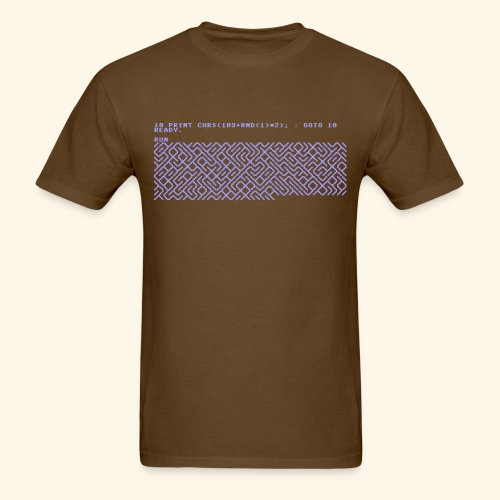10 PRINT CHR$(205.5 RND(1)); : GOTO 10 - Men's T-Shirt