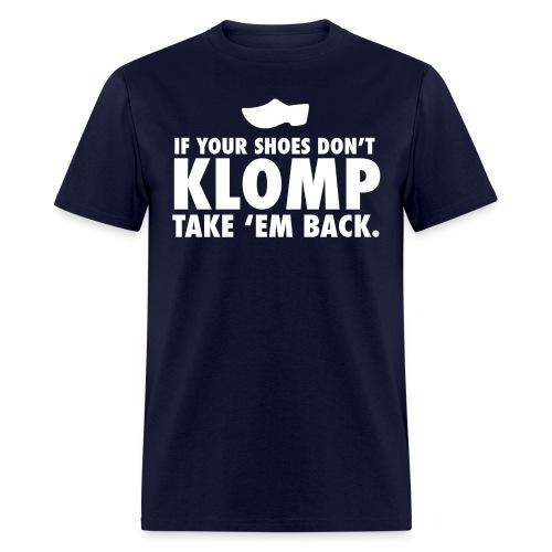 08 Klomp white lettering - Men's T-Shirt