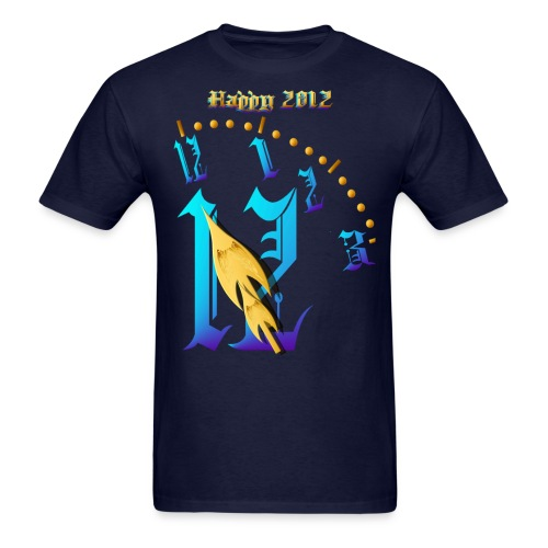 Happy 2012-Clock Striking 12:NM - Men's T-Shirt