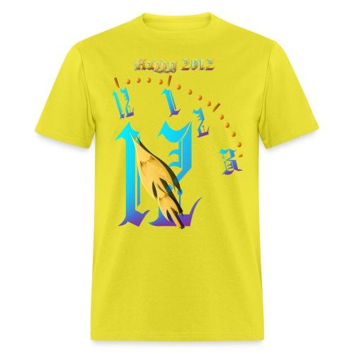 Happy 2012-Clock Striking 12:NM - Men's T-Shirt