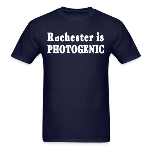 New York Old School Rochester is Photogenic Shirt - Men's T-Shirt