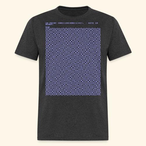 10 PRINT CHR$(205.5 RND(1)); : GOTO 10 - Men's T-Shirt