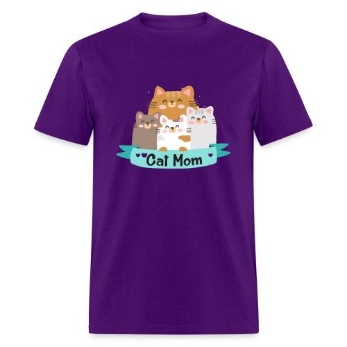 Cat MOM, Cat Mother, Cat Mum, Mother's Day - Men's T-Shirt