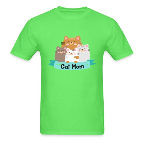 Cat MOM, Cat Mother, Cat Mum, Mother's Day - Men's T-Shirt