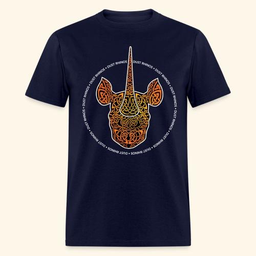 Dust Rhinos Orange Knotwork - Men's T-Shirt