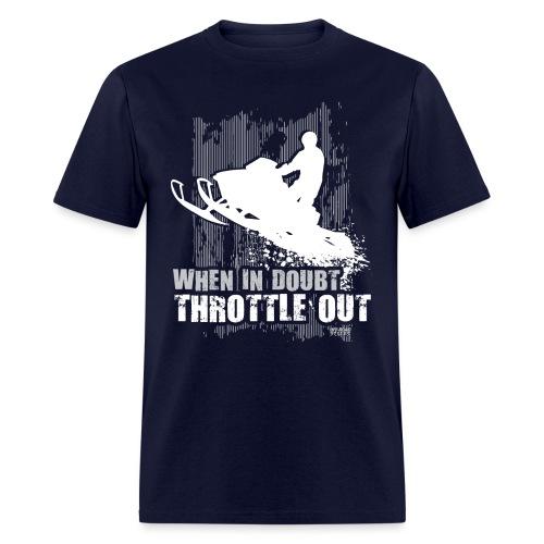 Snowmobile Doubt Throttle - Men's T-Shirt
