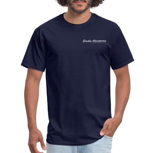 Simply Adventurous WHITE Design - Men's T-Shirt