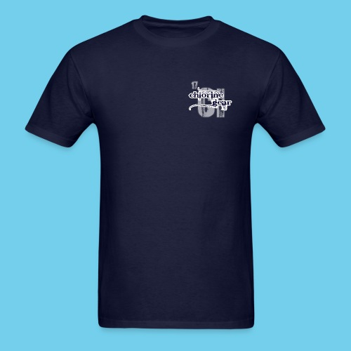Large Chlorine Gear Relief background Logo - Men's T-Shirt