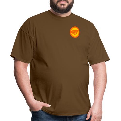 Lucky Fin orange + yellow - Men's T-Shirt