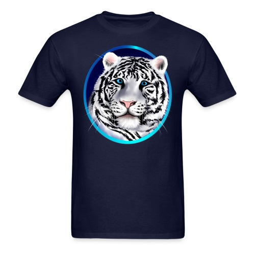 Framed White Tiger Face - Men's T-Shirt