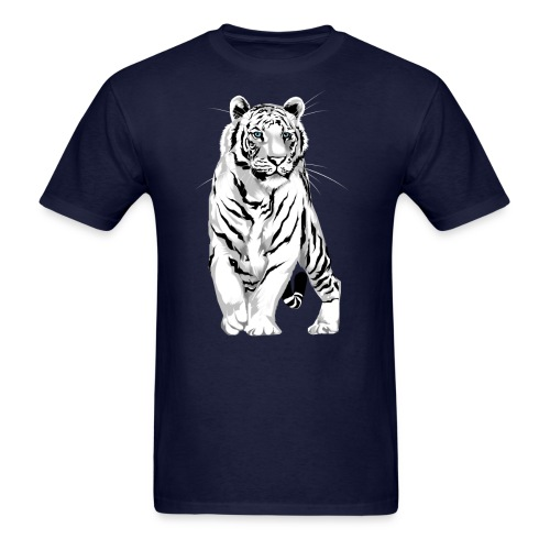 Stately White Tiger - Men's T-Shirt