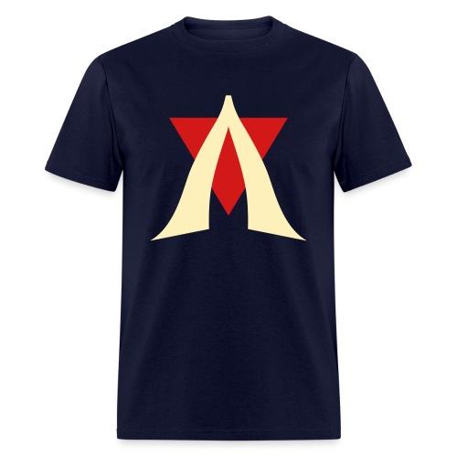 V Logo Jimmy Casket - Men's T-Shirt
