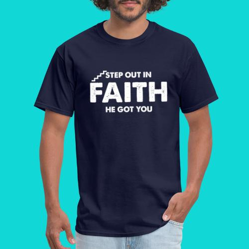 Step Out In Faith - Men's T-Shirt