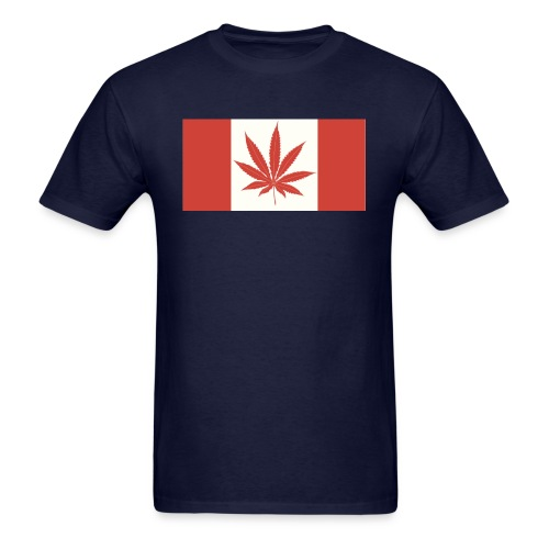 CANADIAN-FLAG-MARIJUANA - Men's T-Shirt